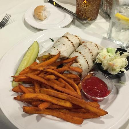 Vegetable wrap with sweet potato fries - Picture of The Red Blazer ...