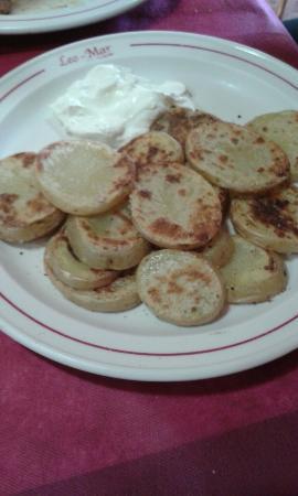 Socovos, Spain: Patatas asadas.