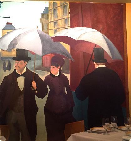 Bistrot Lepic & Wine Bar : Bistrot Lepic mural inside