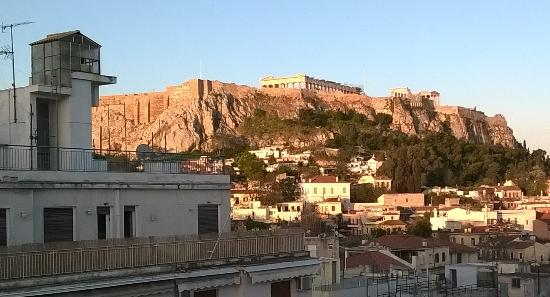 Athos Hotel: Sunrise from the roof
