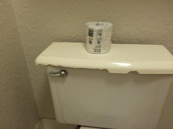 La Quinta Inn & Suites Nashville Airport/Opryland: Toilet could cut your back while sitting in it.