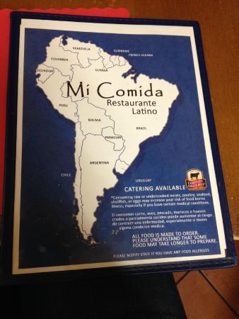 Mi Comida Restaurante Latino: menu