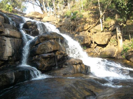 Water Falls At Beautiful Scenery