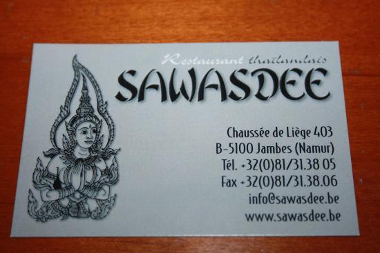 Sawasdee Carte De Visite