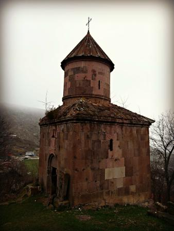 The small Saint Sargis Chapel in Gosh, Armenia