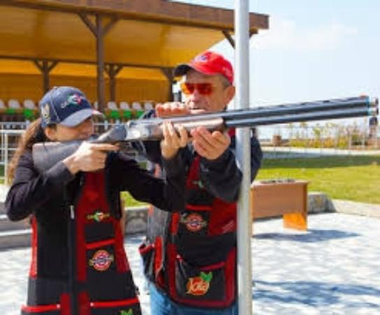 Qabala, Azerbejdżan: At the shooting range