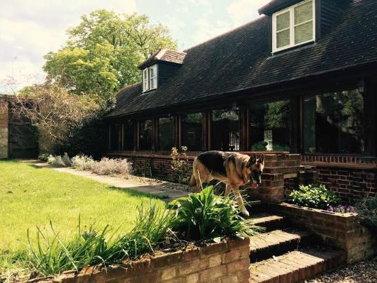 Benson, UK: Cloister-private garden