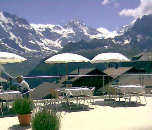 Hotel Bellevue: Terrasse