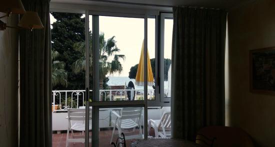 Hotel les Alcyons: Vue de la chambre