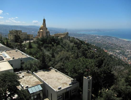 Jounieh, Lebanon: south view from Our Lady of Lebanon