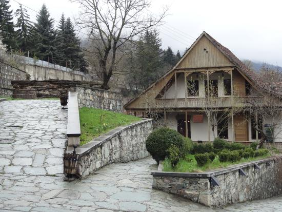 Dilijan, Armenia: A historic building used as a restaurant and guesthouse