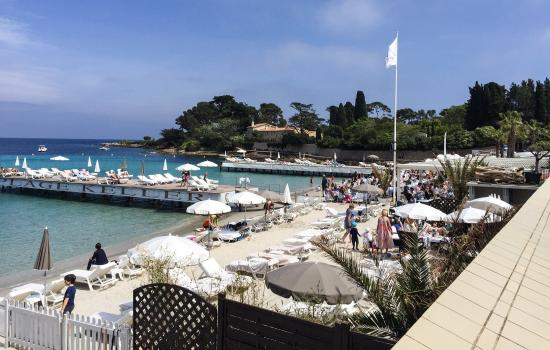 Plage keller and restaurant cesar picture of le cesar for Antibes restaurant le jardin