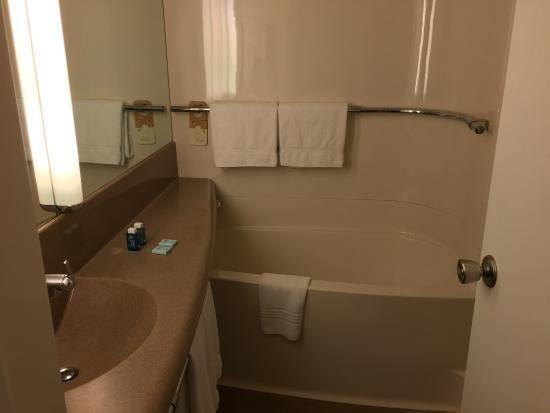 Novotel Poitiers Site du Futuroscope : Salle de bain avec douche à droite
