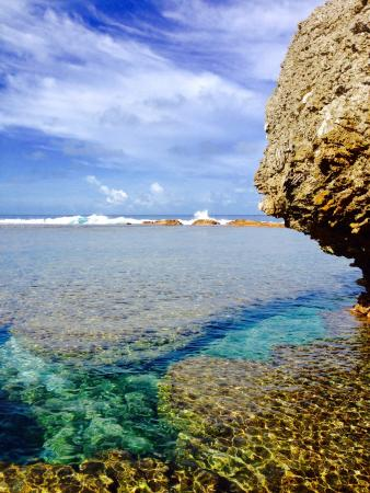 Tiare Holiday Cottages: One of many isolated coves to explore