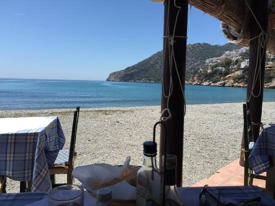 comiendo playa