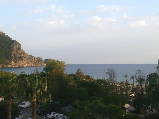 Hotel Kleopatra Blue Hawaii: udsigten fra altanen