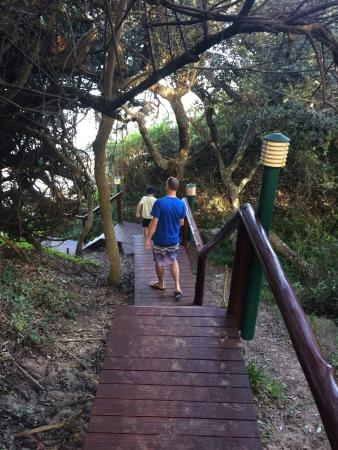 Crawford's Beach Lodge : Pathway to our room