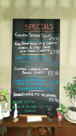 Scrumptious: Just a taster of the specials board which changes everyday