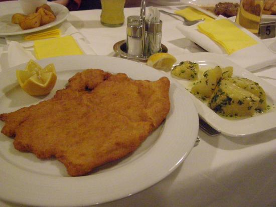 Rosen Hotel Europahaus: wiennese schnitzel 11.50 euro
