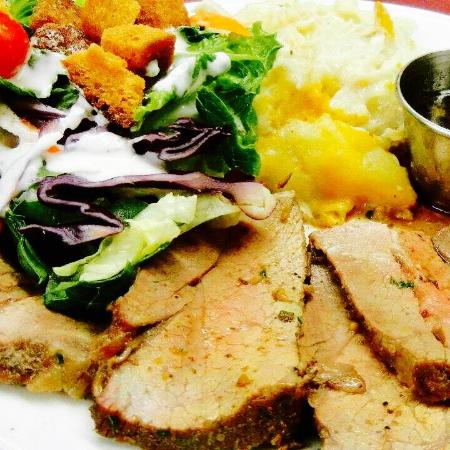 Imperial, CA: Tri Tip, Cheesy Potatoes & Salad