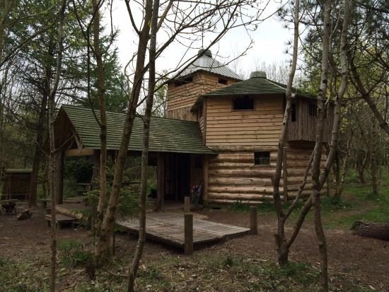 Hilton Court Gardens: One of the wooden structures