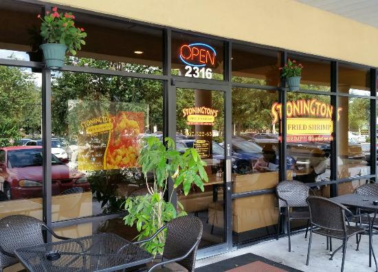 Exterior w outdoor seating picture of stonington 39 s for Fish restaurant orlando