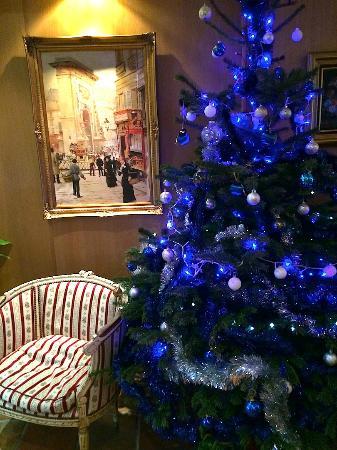 Hotel Boileau : Le lobby à Noel