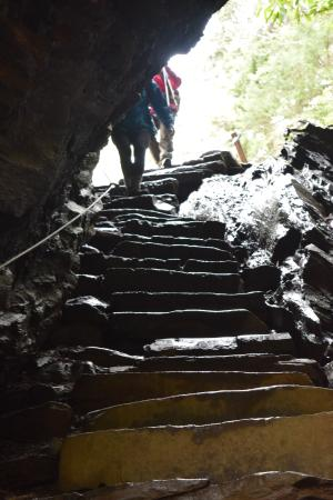 LeConte Lodge: Slate stairs