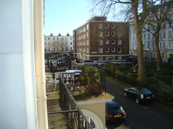 Dolphin Hotel View Over Norfolk Square From Bedroom Window