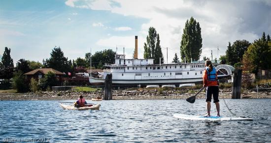 Kaslo Kayaking: SUPing on Kootenay Lake at Kaslo, BC