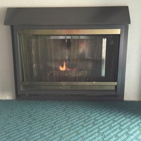 Cannery Row Inn: In room fireplace
