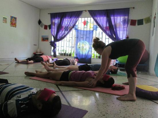massage in savasana - Picture of Flying Tree Yoga Studio ...