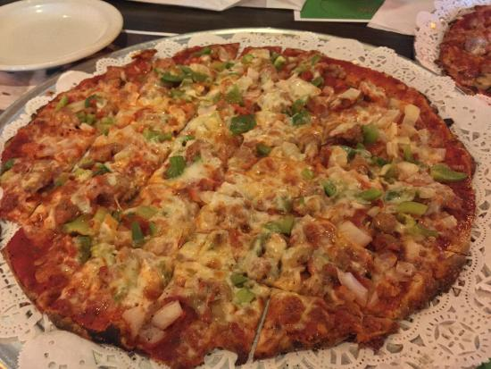 Wells Brothers Italian Restaurant : Sausage, green peppers, and onions.