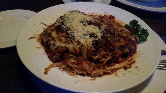 Marlin Bill's: Delicious Eggplant Parmigiani Pasta