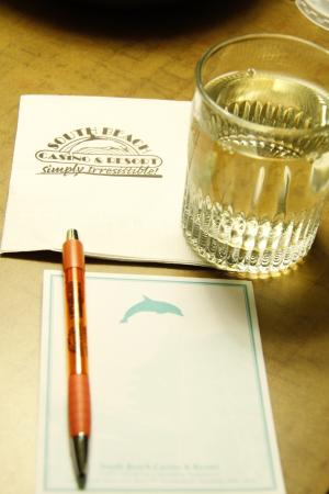 Pen, Paper, Complimentary Water...South Beach Casino and Resort  |  One Ocean Drive, Scanterbury