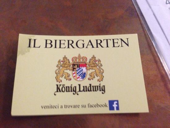 Visitenkarten Picture Of Il Biergarten Fraforeano
