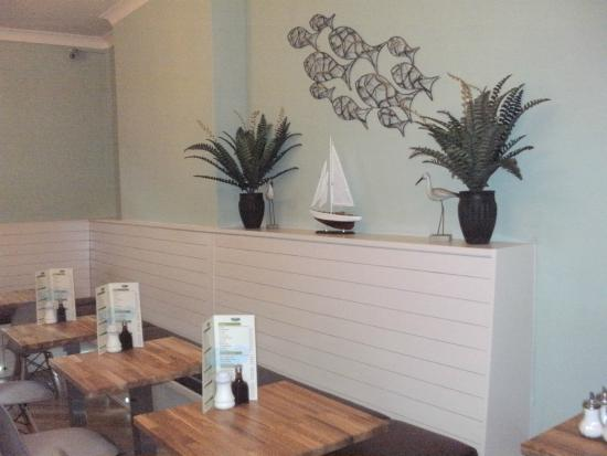 J & C's Chippy Restaurant: The new wall