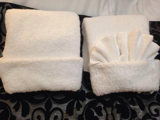 Chelmswood Motel : Cute towels