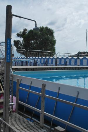 Piscina con acqua di mare dimensioni 13x7 m profondit 1 30 m la trovate giugno luglio e ago - Dimensioni piscina ...
