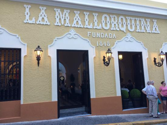 Beautiful La Mallorquina Restaurant In Old San Juan Pr