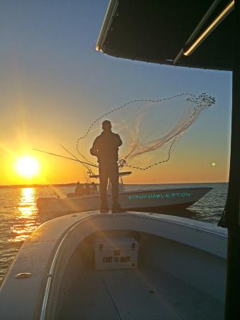 Knot @ Work Fishing & Site-Seeing Charters : The Captain Capturing Bait