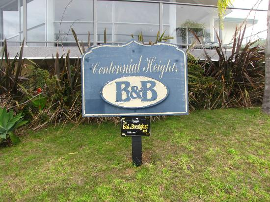 Centennial Heights B&B : Entrance