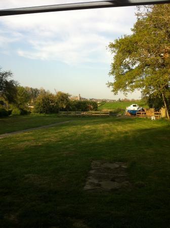 Manoir de La Crochardière : vue sur le jardin