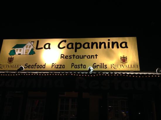 La Capannina: Beschriftung des Restaurants