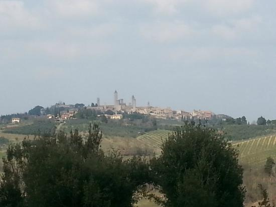 Agriturismo Poggiacolle: San Gimignano from the grounds