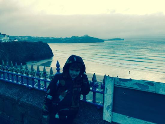 Cliff view at Newquay Breaks.