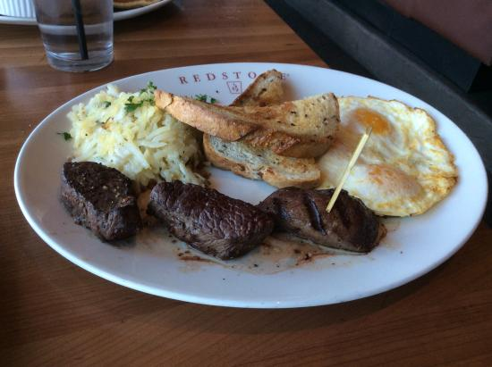 Steack and eggs picture of redstone american grill for Redstone grill