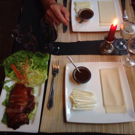 Pataya Restaurant: Duck with rice crêpes