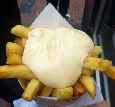 Photo of Belgian Restaurant Vlaams Friteshuis Vleminckx at Voetboogstraat 31-33, Amsterdam 1012 XK, Netherlands