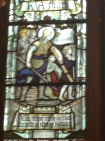 Llandaff Cathedral: King Arthur after Battle of Baedon Hill